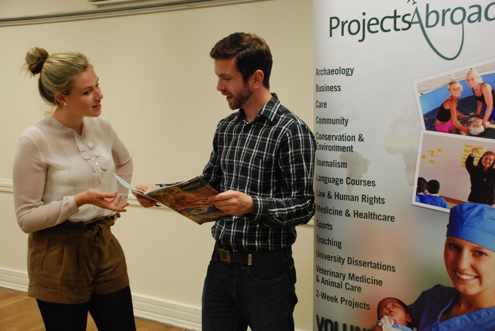 Staff from Projects Abroad's recruitment team hold an open day.